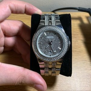 Bulova Watch covered in Swarovski crystals